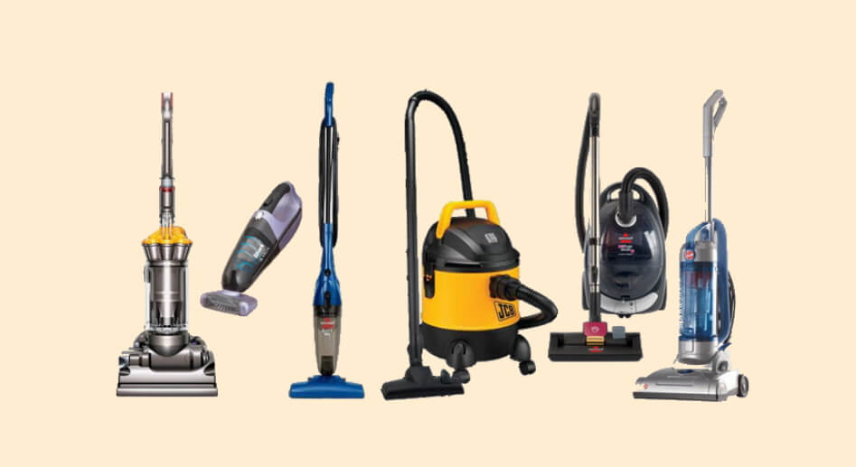 Types of Vacuum Cleaners Available in India