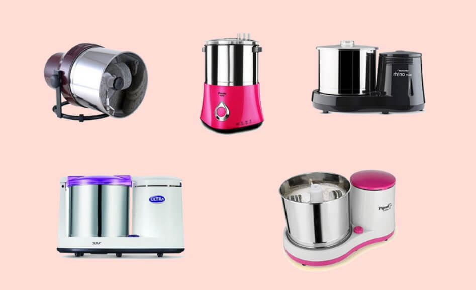 Types of wet grinders available in india