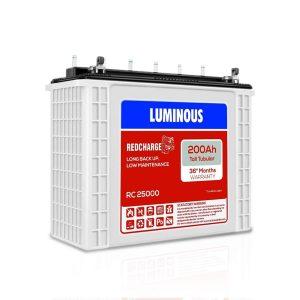 Luminous Red Tall Tubular Inverter Battery