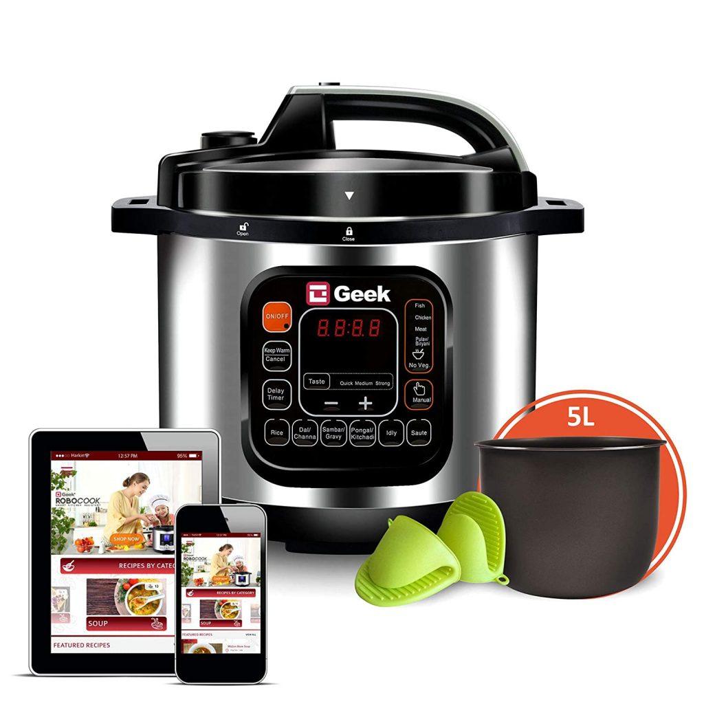 Geek Robocook 5 Litre Electric Pressure Cooker