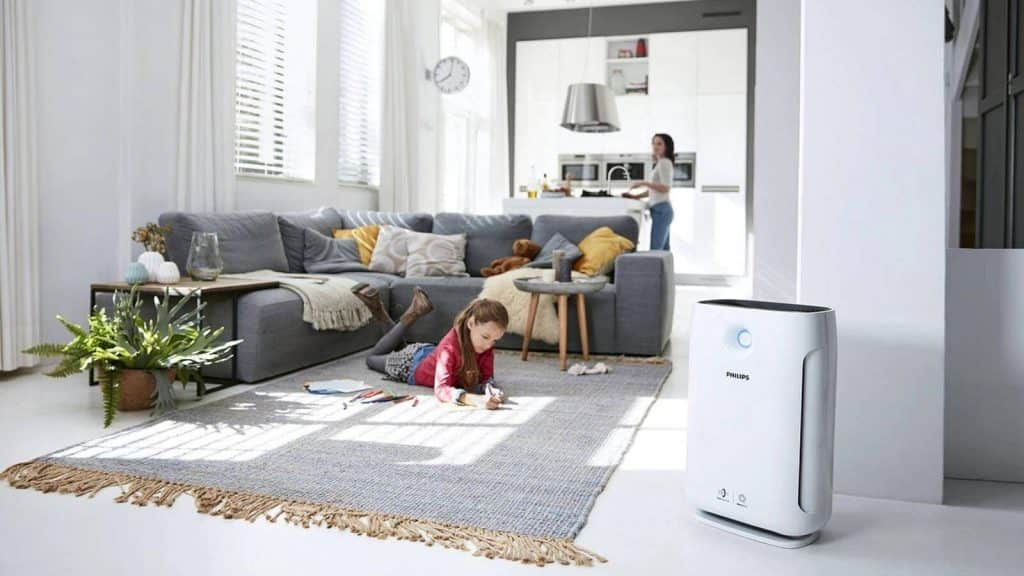 With a Cadr rate of 215m3/hr, this air purifier from Eureka Forbes is our next pick. The product package includes air purifiers and filters. It works through HEPA technology, where 99.99 microparticles like pollen, mold spores, and fine dust get eliminated effortlessly. Apart from that, it holds a filter replacement reminder, where you will know that the filter life is about to end, and it requires replacement.    For security reasons, the air purifier has a child lock feature with a one-touch function. Hence, you can stay assured of any child misuse at any point. The air quality indicator helps to know the same through green, yellow, and red lights. Moreover, it is known to be one of the best air purifiers in India is ozone-free, and no harmful gases get emitted as a by-product.    As an added benefit, you get a 1-year warranty. Thus, you are likely to get a fresh environment with this best air purifier in India under 15000.