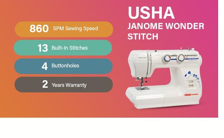 USHA Janome Wonder Stitch