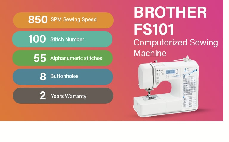 Brother FS101 Computerized Sewing Machine
