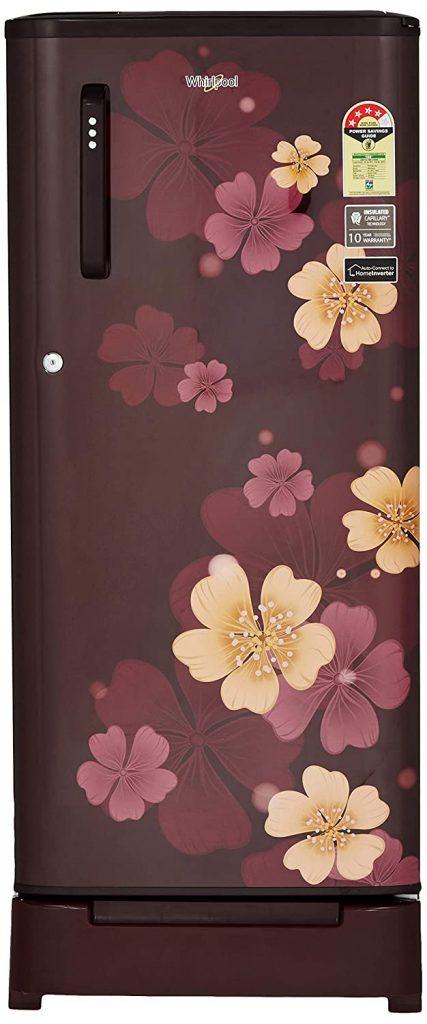 Whirlpool 190 L 4 Star ( 2019 ) Direct Cool Single Door Refrigerator (WDE 205 ROY 4S WINE IRIS, Wine)